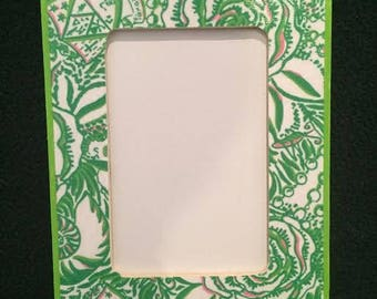 Kappa Delta Lilly Pulitzer Inspired Frame