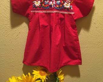 Little girl Mexican Embroidered Dress