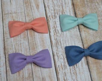 Loop simple baby / girl color - baby girl clip nylon headband