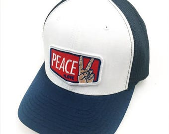 Peace + Love : Flex Fit Trucker Cap