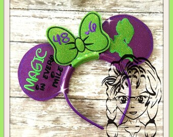 DOPEY CHaLLANGE MaRATHON Inspired (3 Piece) Mr Miss Mouse Ears Headband ~ In the Hoop ~ Downloadable DiGiTaL Machine Emb Design by Carrie
