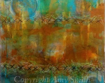 Borders- Mixed Media Abstract Painting