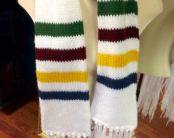 Hudson Bay Inspired Knit Scarf