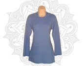 Hemp Clothing - Organic Cotton and Hemp Hoodie Custom made to order and hand dyed with low impact dyes