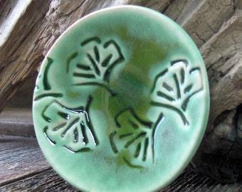 Pottery Dish, Trinket Dish, Jewelry Tray, Jewelry dish, Ceramic Dish, Ceramic Tray, Ginkgo leaf Dish, Ring Dish, Ring Tray