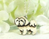 Shih Tzu Pendant Puppy Dog Necklace Bailey - Chinese Lion Dog Necklace - Small Dog Pendant -Shih Tzu Necklace -Shih Tzu Gift -Dog Lover Gift