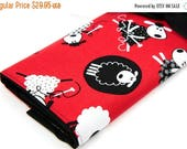 Sale Large Knitting Needle Case - Red Sheep - multi 30 black pockets for straights, circulars and double points
