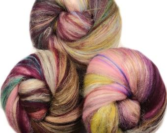Bookish - classic batts -- (4 oz.) organic polwarth wool, bamboo, etc.