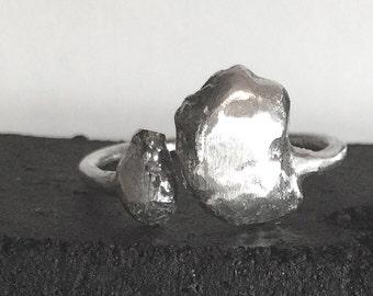 organic sterling silver ring