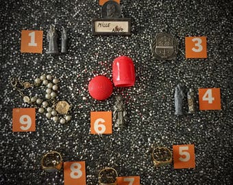 VINTAGE RELIGIOUS SMALLS Pocket Statues & Flicker Rings Pick By Number