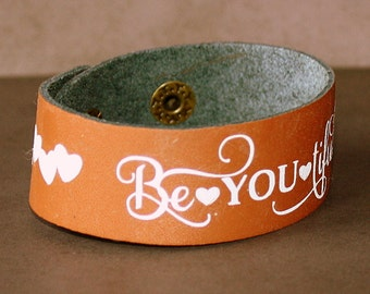 Be You Tiful Leather Cuff - Be You Tiful Bracelet - Beautiful