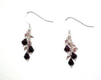Miette - Garnet earrings