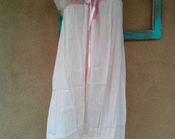 Vintage 1920s Step In Romper 20s Chemise Gatsby Flapper Large B42