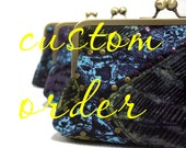 CUSTOM ORDER- Supersnap Clutch purse for Rian