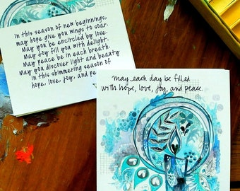advent prayer cards - 4 x 4 inches
