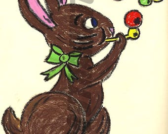 Printable Digital Rabbit