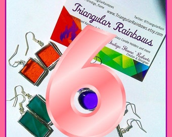 6 Month Subscription to the Stained Glass Earring Of the Month Club handmade ooak gifts for her