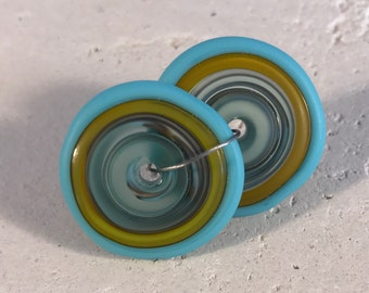Discs - Yellow, Turquoise, and Gray