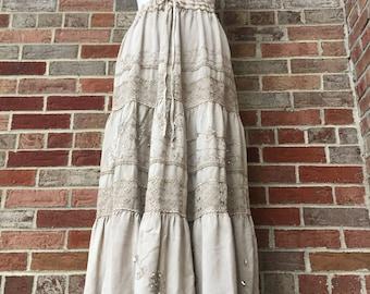 Bohemian Skirt/ Bohemian Dress/ Emroidered Skirt/ Free sz