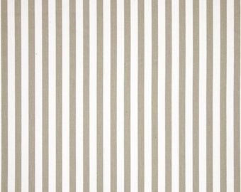 Premier Prints Basic Stripe Tan White Twill Home Decorating Fabric By The Yard