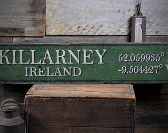 Custom Ireland Sign, Ireland Gift, Ireland Wall Decor, Irish Wall Decor, Irish Decor, Irish Gift-Rustic Hand Made Distressed Wood ENS1000868