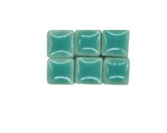1 oz - 5 mm size MINT BLUE GREEN Ceramic Mosaic Tiles - approx 190 - 200 tiles