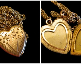 His Heart - Vintage Locket Necklace