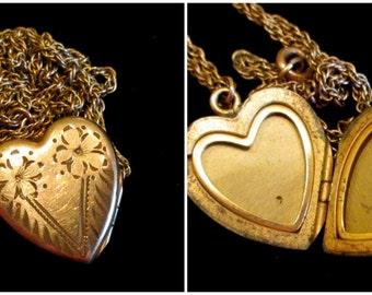 His Heart - Vintage Locket Necklace