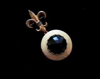 Black Tie Optional Onyx Locket Brooch
