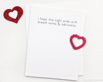 Sex Card. Valentine Card. Anniversary Card. Breath Mints.