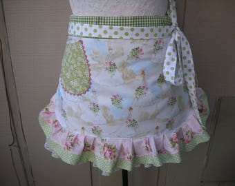 Womens Bride Aprons - Womens Wedding Aprons - Bridal Aprons - Here Comes The Bride Apron - Shabby Chic Handmade Aprons - Annies Attic Aprons