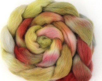 Hand Dyed Massam Wool Combed Top 100g Mas4