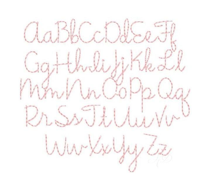 Quot gracie handstitch script machine embroidery font hand