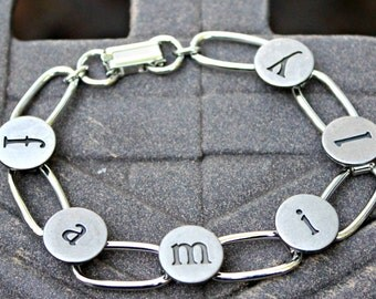 FAMILY Stamped Metal Letters 7 Inch Bracelet