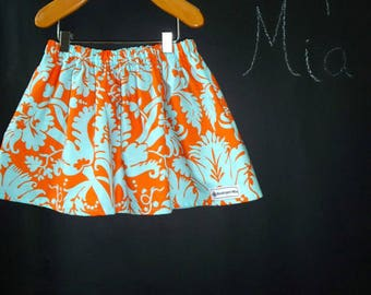 Sample SALE - Will fit Size 12 month to 2T - Ready to MAIL - SKIRT -  Amy Butler - Acanthus - by Boutique Mia