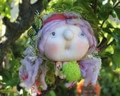 Florentina the Forest Witch - Kitchen Witch Doll - Herb Witch - Green Witch - Good luck doll for your kitchen!