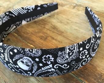 Black Bandana Skull Headband Hairband Head Wrap Fashion Hair