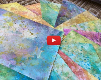 Video Tutorial - How to make Distressed and Shimmery Backgrounds for your Art and Zentangles.
