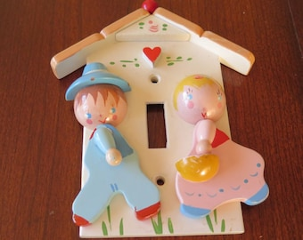 Vintage 1950s IRMI Light Switch Plate for Nursery