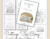 Country Cottage Tea Cozy Hand Embroidery Pattern PDF INSTANT DOWNLOAD