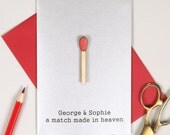 Valentine's 'Match made in heaven' Card - love card - romantic card - card for boyfriend - card for girlfriend - wife husband card