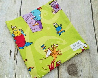 Monsters Under the Bed - Reusable Sandwich Bag | Snack Bag | Waterproof | Travel Bag from green by mamamade