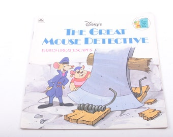 Disney, The Great Mouse Detective, Basil's Great Escape, Vintage, Children's, Book  ~ The Pink Room ~ 170209