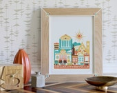 CHARLOTTESVILLE print -11 x 14 in.  (color: Earth)