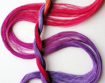 "Size 80 ""Corsage"" hand dyed thread 6 cord cordonnet tatting crochet cotton"