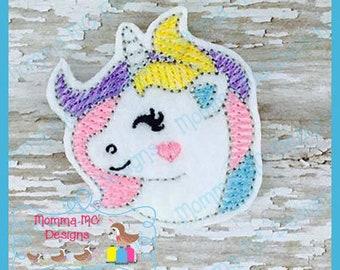 Unicorn Felt Feltie Embroidery Design