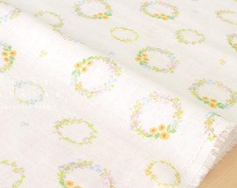 Japanese Fabric double gauze dainty flower crowns - cream -  50cm