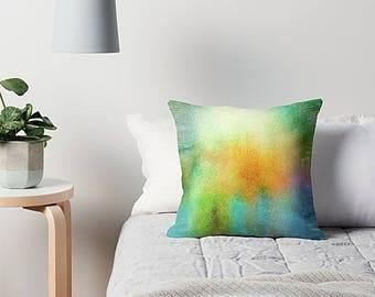 Boho Pillow Cover, Watercolor Pillow, Throw Pillow Cover, Pillow Cover, Sofa Pillow, Art Pillow, Art Pillow Cover, Abstract Pillow