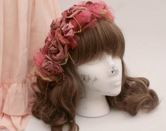 ROSE CHORALE Beaded Floral Headdress