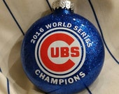 Chicago Cubs World Series Ornament -